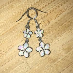 Jewelry - 925 Sterling Silver Plumeria Earring